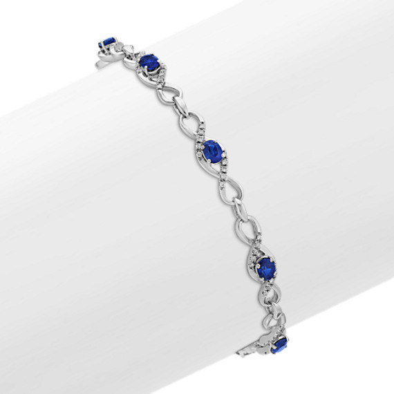 Oval Sapphire and Diamond Bracelet (7 in)