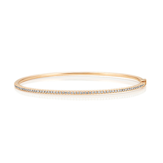 Pave-Set Diamond Bracelet in 14k Yellow Gold image