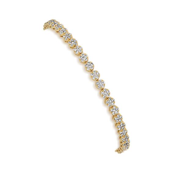 Pave Cluster Diamond Bracelet (7 in)