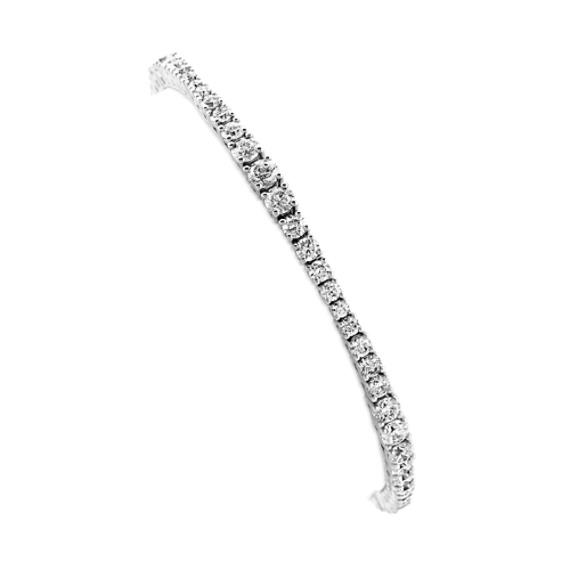 Pave-Set Diamond Bracelet in 14k White Gold (7 in)