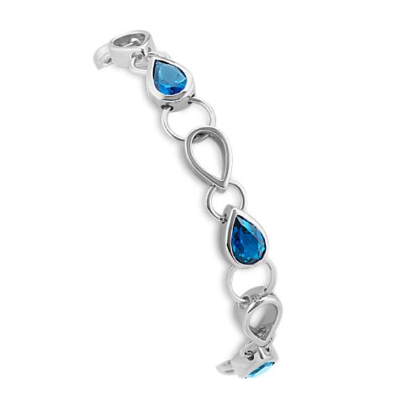 Pear-Shaped London Blue Topaz Bracelet (7.5 in)