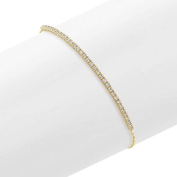 Petite Diamond Bracelet 14k Yellow Gold (7 in.)