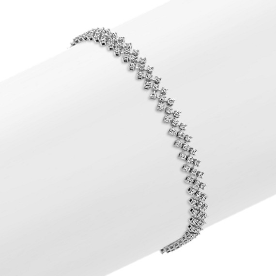 Quilted Diamond Bracelet (7 in)