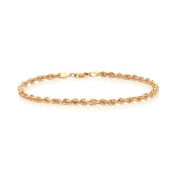 Rope Bracelet in 14k Yellow Gold (9 in)