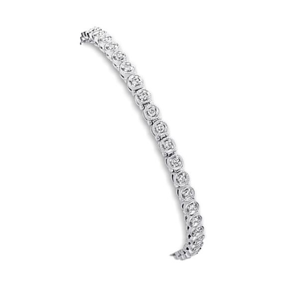 Round Diamond Bracelet (7 in)