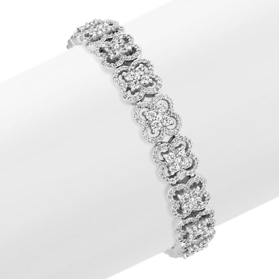 Round Diamond Butterfly Bracelet (7 in)