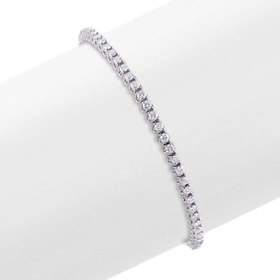 Round Diamond Tennis Bracelet (7 in)