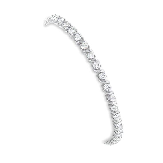 Round Diamond Tennis Bracelet (7 in)