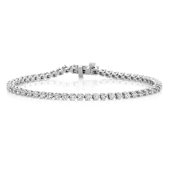Round Diamond Tennis Bracelet (7.25 in) image