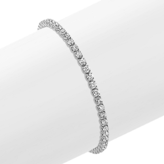 Round Diamond Tennis Bracelet in 14k White Gold (7 in)