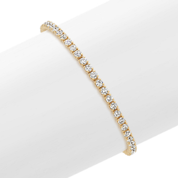Round Diamond Tennis Bracelet in 14k Yellow Gold (7 in)