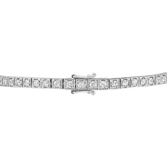 Round White Sapphire Tennis Bracelet (7.5 in) image