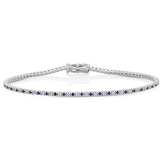 Sapphire and Diamond Tennis Bracelet (7 in.)