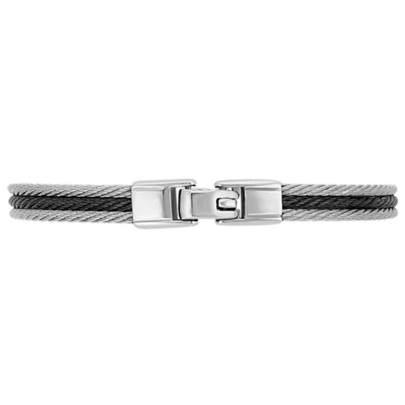 Stainless Steel Cable Bracelet (8.5 in) image