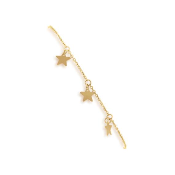 Star Charm Bolo Bracelet in 14k Yellow Gold (9 in)