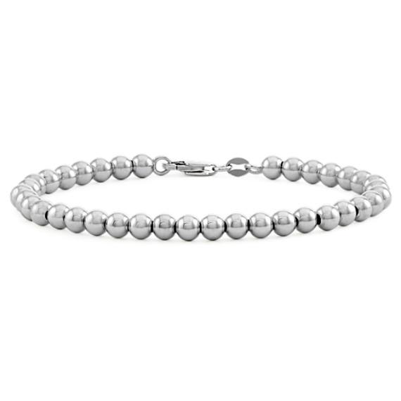 Sterling Silver Bead Bracelet (7.5 in)