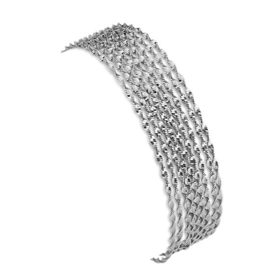 Sterling Silver Chain Bracelet (7.5 in)