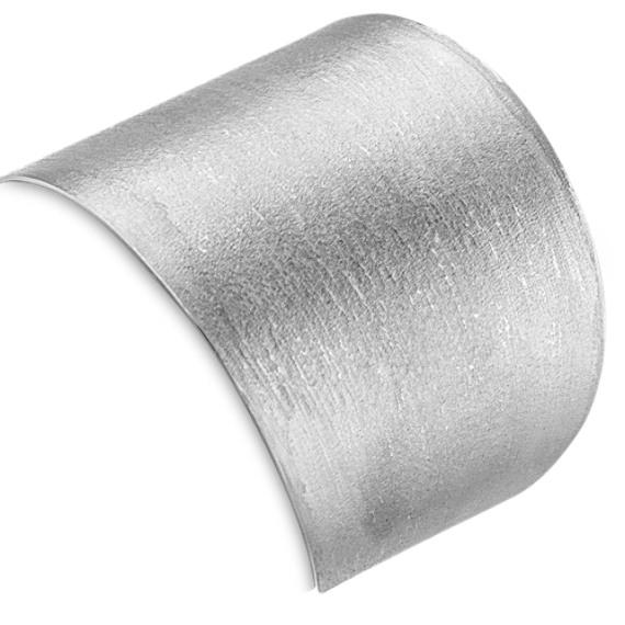 Sterling Silver Textured Cuff Bracelet (7 in)
