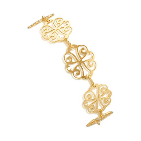 Yellow Sterling Silver Vintage Bracelet (7 in)