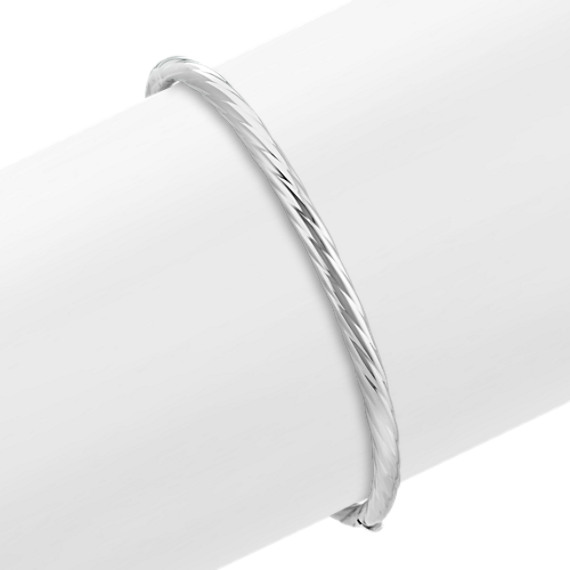 Sterling Silver Bangle Bracelet (7 in.)