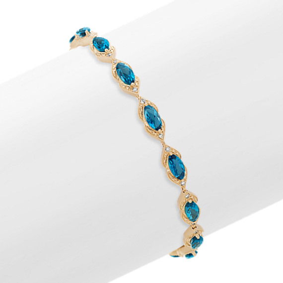 London Blue Topaz and Diamond Bracelet