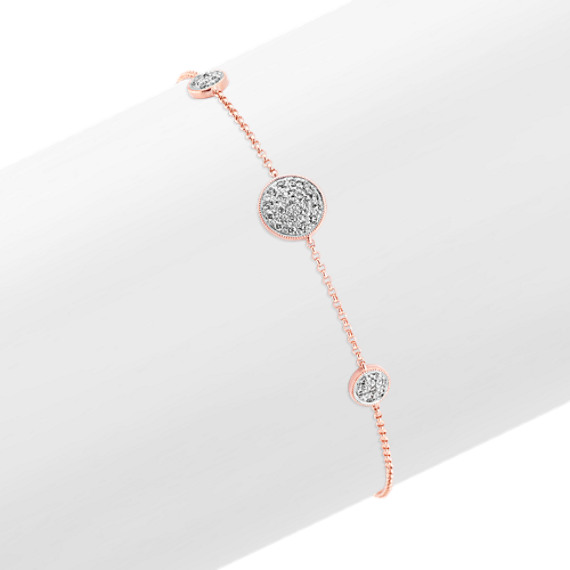 Two-Tone Pave-Set Diamond Bracelet (7 in)