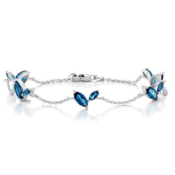 Marquise London Blue Topaz Bracelet (7.5 in.) image