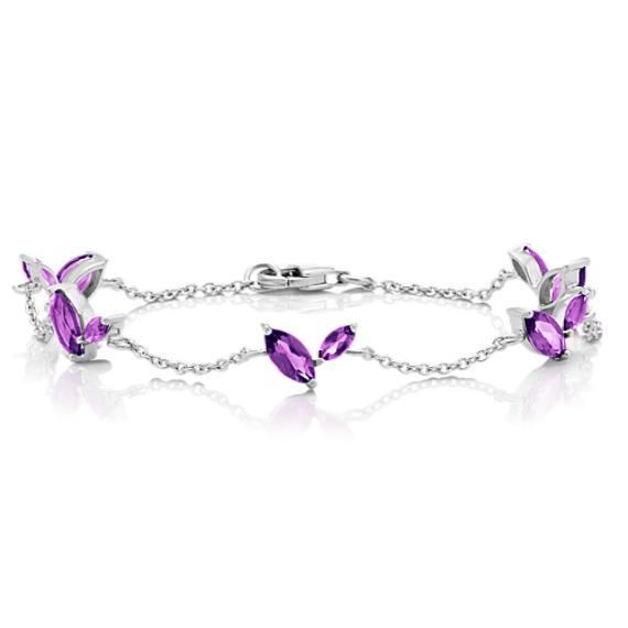 Marquise Purple Amethyst Bracelet (7.5 in.) image