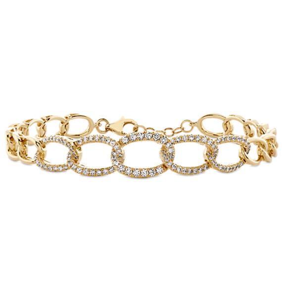 Bella Link Diamond Bracelet in 14k Yellow Gold (7 in)
