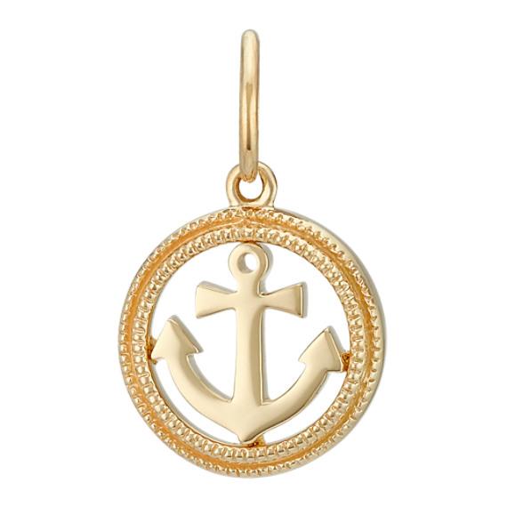 14k yellow gold anchor charm shane co 14k yellow gold anchor charm aloadofball Gallery