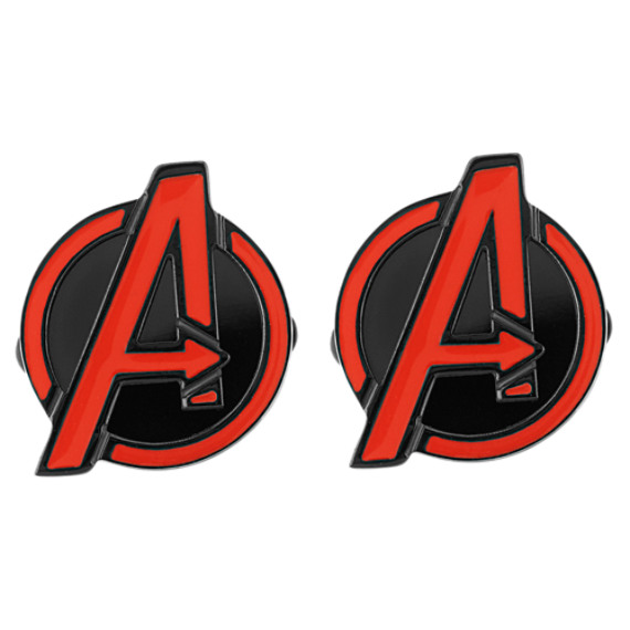 Avengers by Marvel Comics Black Stainless Steel Cuff Links