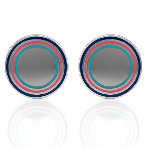 Circle Sterling Silver Cuff Links