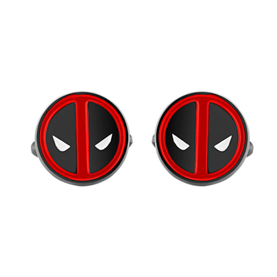 Deadpool by Marvel Comics Stainless Steel Cuff Links