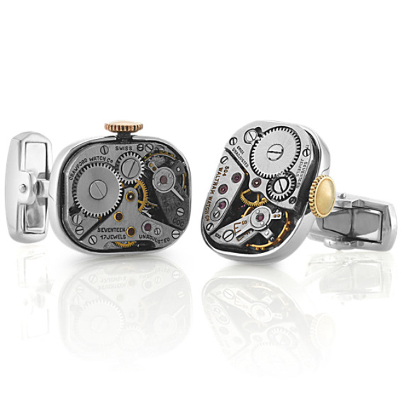 Sterling Silver Watch Cuff Links image