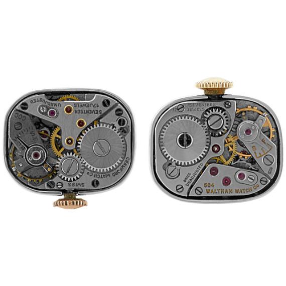 Sterling Silver Watch Cufflinks