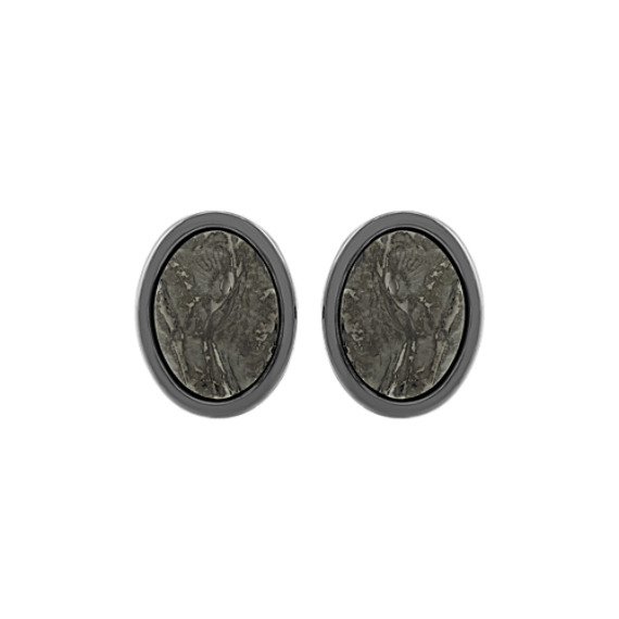 Textured Sterling Silver Cuff Links