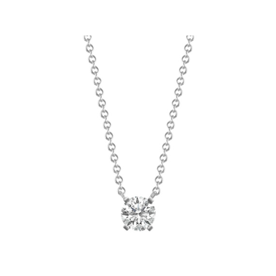 Diamond Accent Pendant for Round Gemstone (18 in)