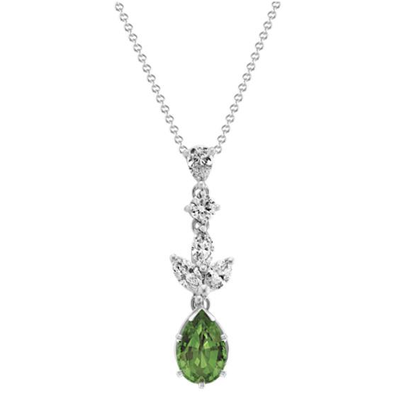Diamond Pendant in 14k White Gold (18 in)