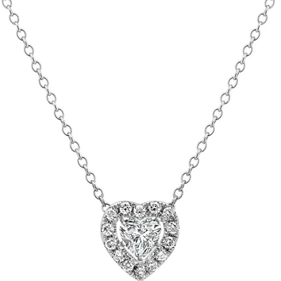 Heart Shaped Diamond Pendant (22 in.)