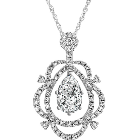 Diamond Pendant for Pear-Shape Gemstone (18 in.)