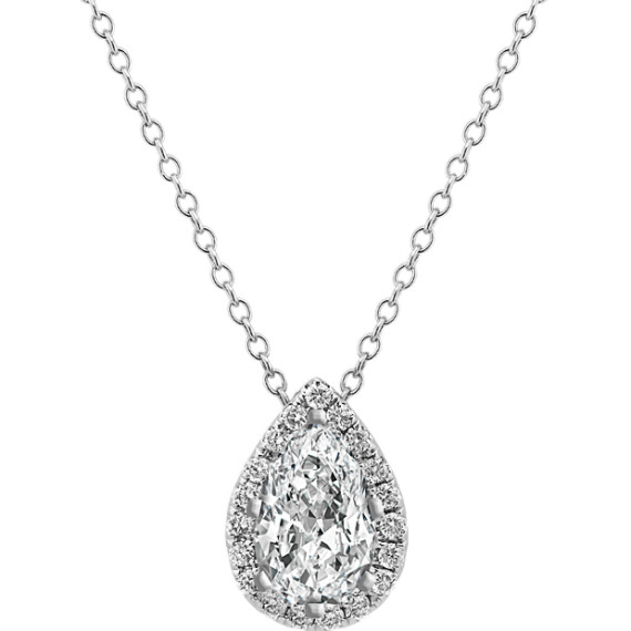 Diamond Pendant for Pear-Shaped Gemstone (22 in.)