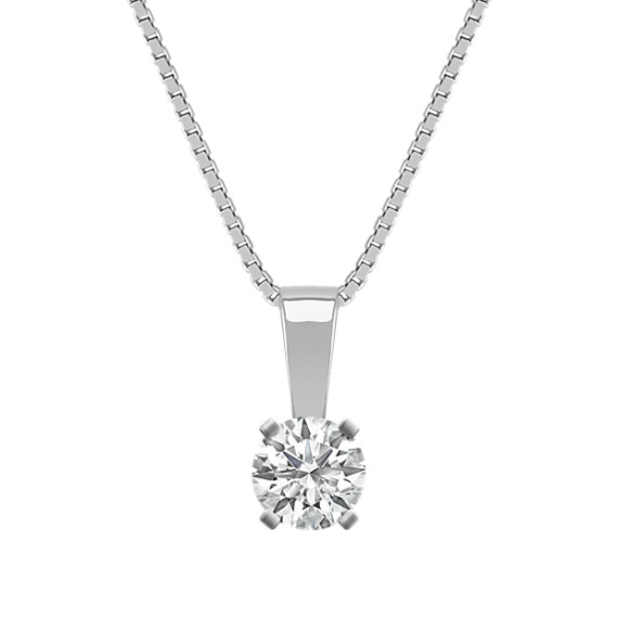 Solitaire Pendant for .35 Carat Round Gemstone (18 in)