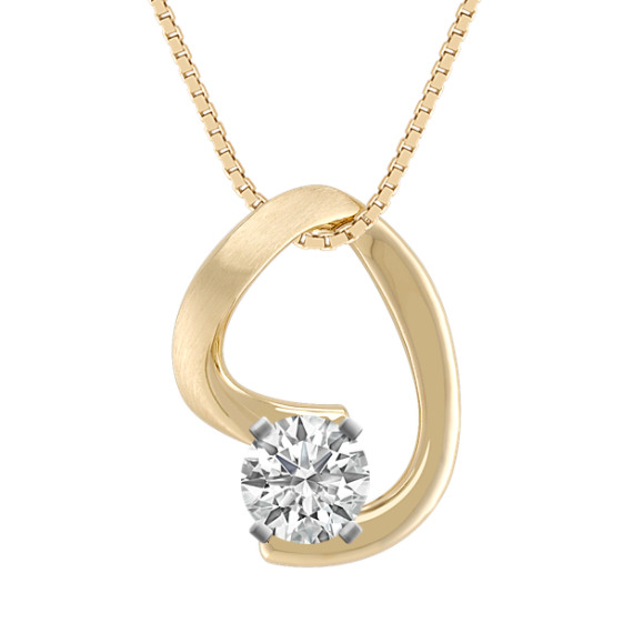 14k Yellow Gold Pendant (18 in)