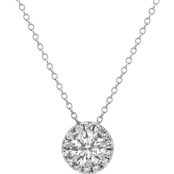 Diamond Round Halo Pendant (22 in.)