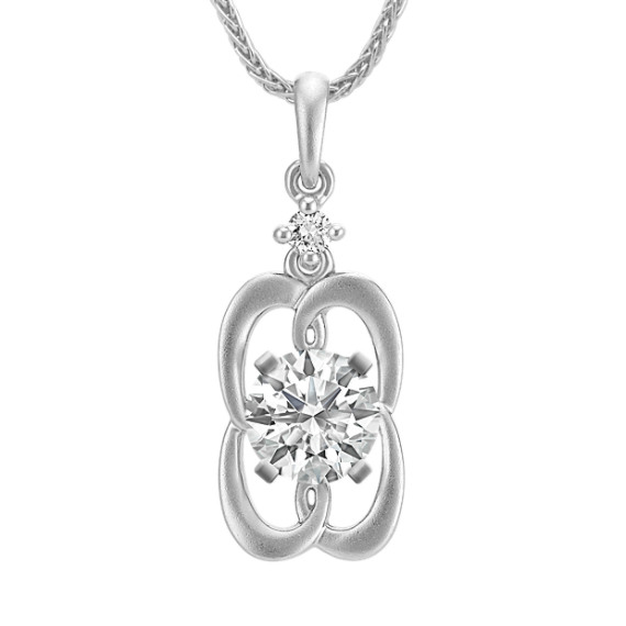 Swirl Framed Diamond Accented Pendant (22 in.)