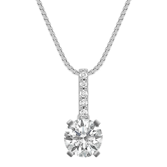Round Diamond Pendant (18 in)
