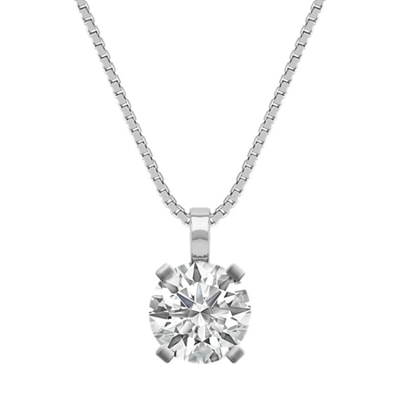Solitaire Pendant for 1 Carat Round Gemstone (18 in)