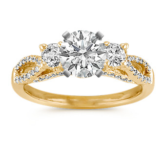 View Shane Co S Beautiful Selection Of Three Stone Engagement Rings