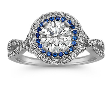Color-Accent Engagement Ring