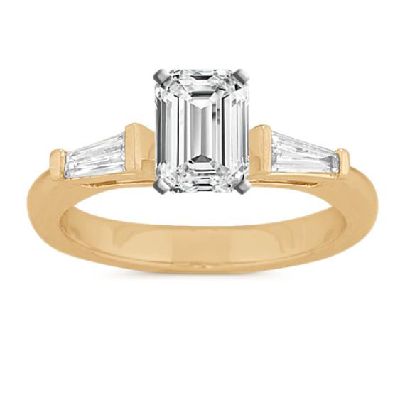 Baguette Diamond Three-Stone Engagement Ring